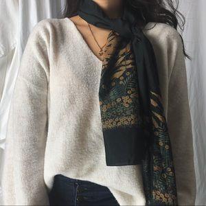 VINTAGE/ italian wheat scarf